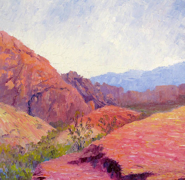 Valley Of Fire Painting - Mid Day Valley Of Fire by Terry  Chacon