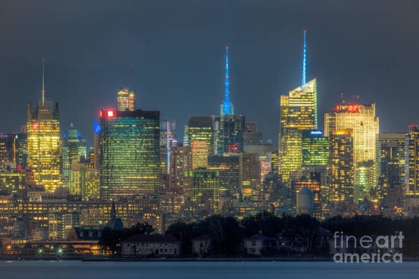 Photograph - Mid-town Manhattan Twilight I by Clarence Holmes