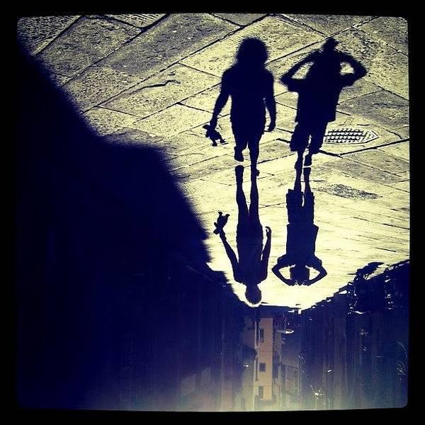 Holiday Wall Art - Photograph - Midget Walk. #rotate #shadow #kids by Robbert Ter Weijden
