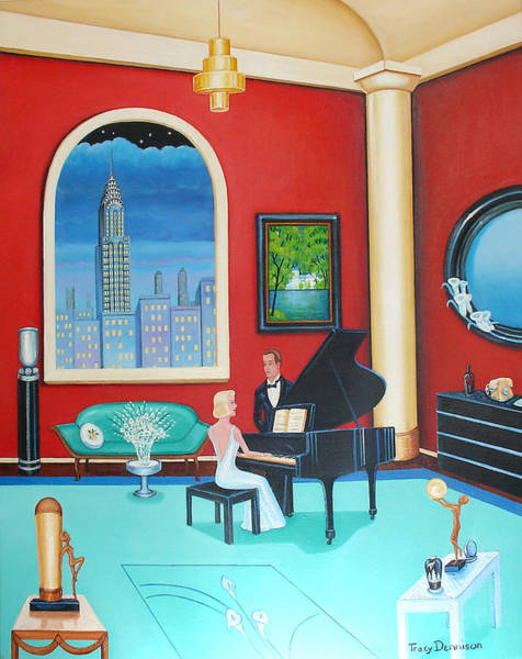 Painting - Midnight Serenade   by Tracy Dennison