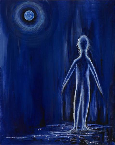 Wall Art - Painting - Midnight Stroll by David Junod