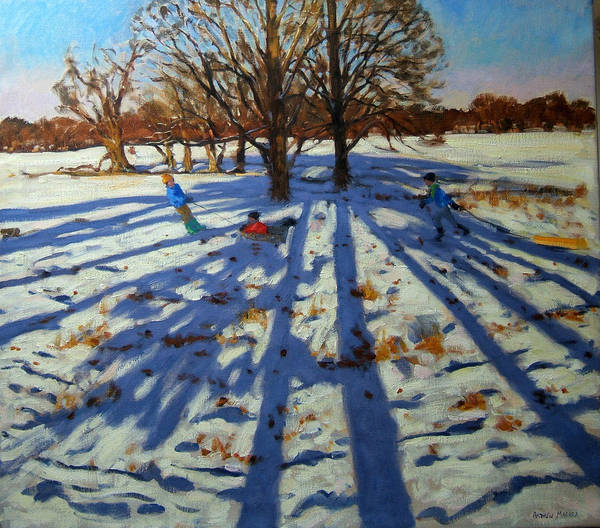 Sledge Wall Art - Painting - Midwinter by Andrew Macara