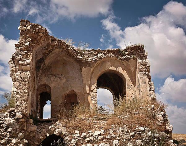 Photograph - Migdal Tzedek Ruins 4 by Endre Balogh