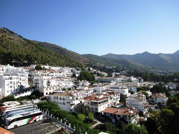 Photograph - Mijas Moutain View White Architecture Spain by John Shiron