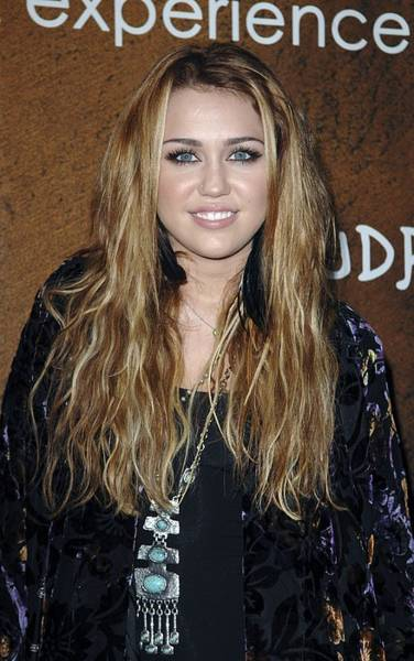 Miley Cyrus Wall Art - Photograph - Miley Cyrus At Arrivals For Grand by Everett