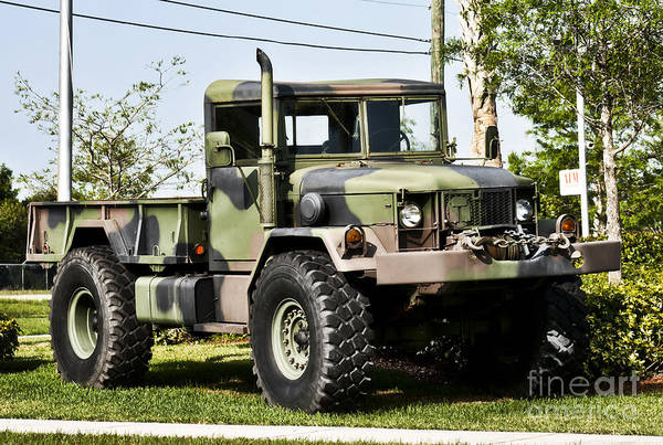 Wall Art - Photograph - Military Truck by Blink Images