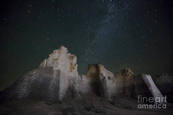 Wall Art - Photograph - Milky Way Over The Chalk Pyramids by Keith Kapple