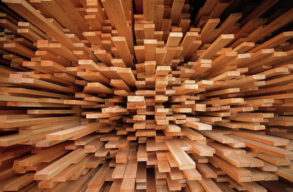Fn Photograph - Milled Wood Planks In A Stack, Europe by Flip De Nooyer