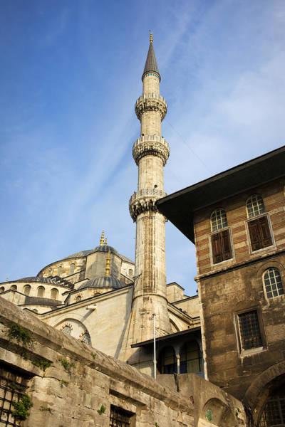 Sultan Ahmet Camii Wall Art - Photograph - Minaret Of The Blue Mosque by Artur Bogacki
