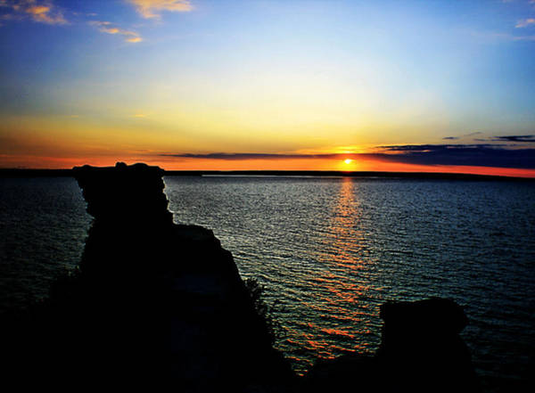 Wall Art - Photograph - Miners Castle At Sunset by Matthew Winn