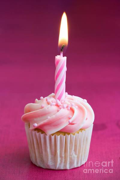 Wall Art - Photograph - Mini Birthday Cupcake by Ruth Black