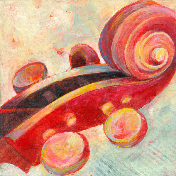 Wall Art - Painting - Mini Cello by Susanne Clark