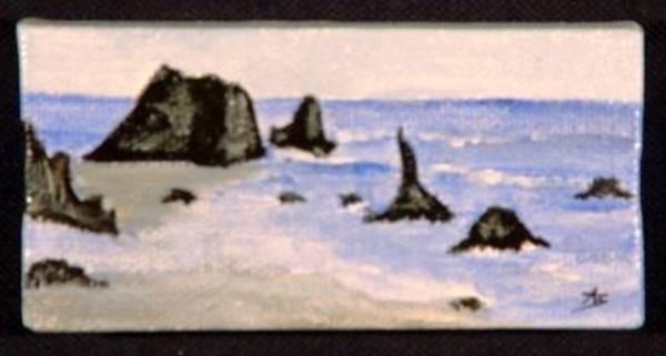 Painting - Miniature. Oregon. Seascape by Antonella Manganelli
