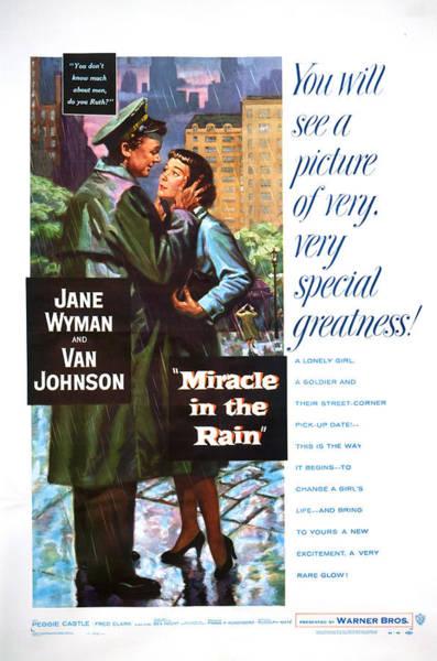 Van Johnson Photograph - Miracle In The Rain, From Left Van by Everett