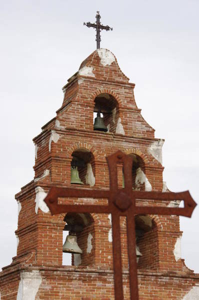 Photograph - Mission Bell Tower by Jeff Lowe