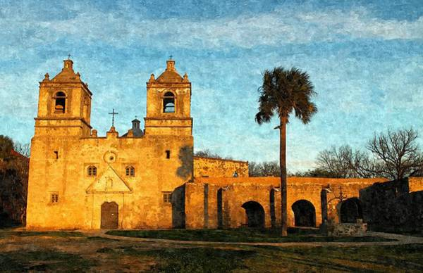Photograph - Mission Concepcion In Oil II by Sarah Broadmeadow-Thomas