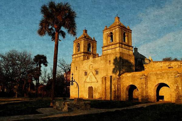 Photograph - Mission Concepcion In Oil by Sarah Broadmeadow-Thomas