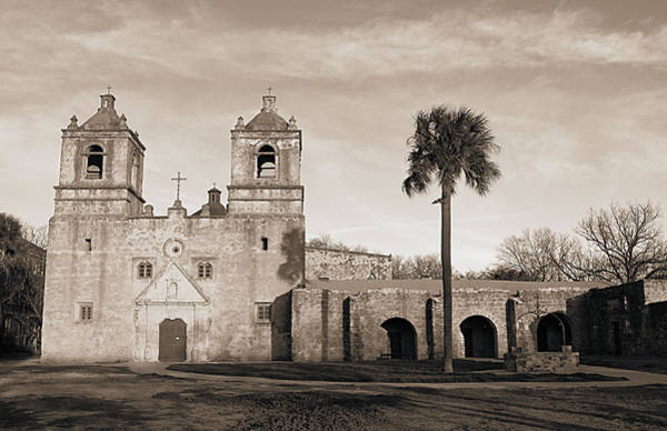 Photograph - Mission Concepcion In Sepia II by Sarah Broadmeadow-Thomas