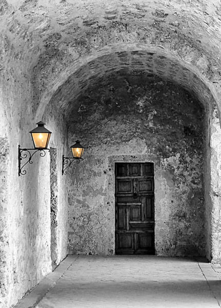 Photograph - Mission Concepcion Walkway Colorsplash by Sarah Broadmeadow-Thomas