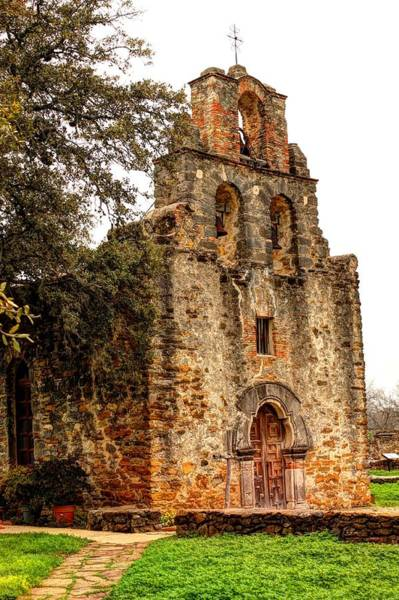 Photograph - Mission Espada In Hdr by Sarah Broadmeadow-Thomas
