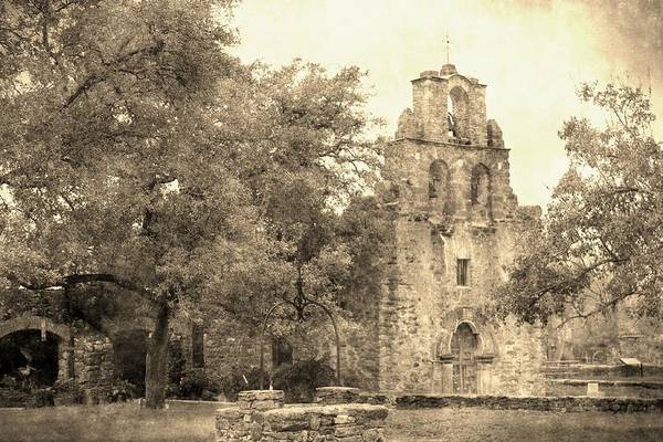 Photograph - Mission Espada Vintage by Sarah Broadmeadow-Thomas