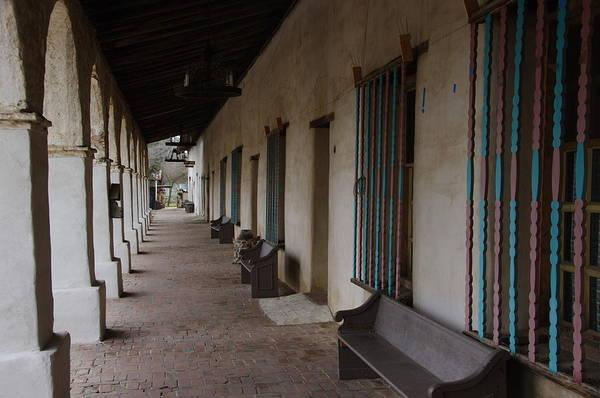 Photograph - Mission San Miguel Porch by Jeff Lowe