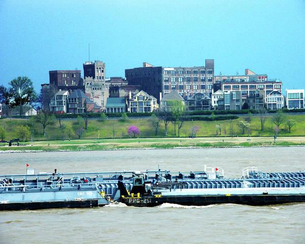 Digital Art - Mississippi River Barge At Memphis by Lizi Beard-Ward