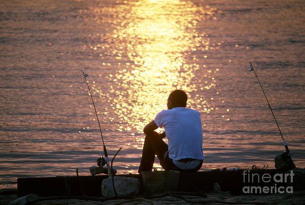 Photograph - Mississippi River: Fishing by Granger