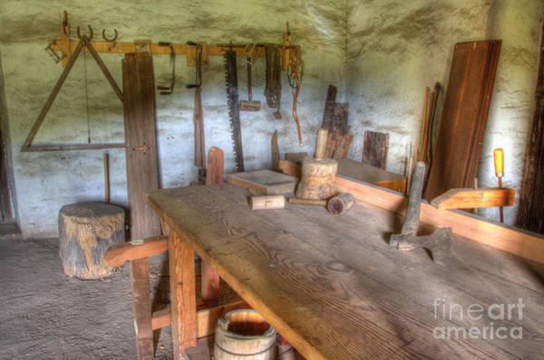 La Purisima Mission Photograph - Misssion La Purisima Carpenters Room by Bob Christopher