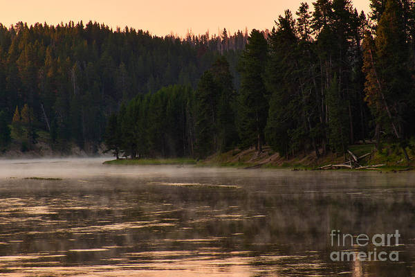 Photograph - Misty Dawn On The Yellowstone by Charles Kozierok