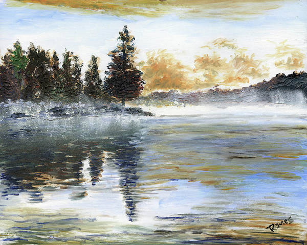Painting - Misty Lake by Richard Jules