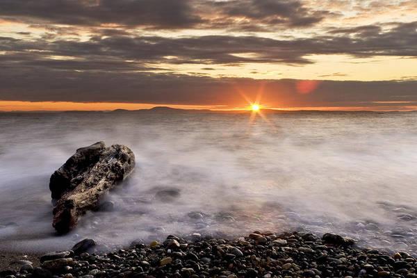 Wall Art - Photograph - Misty Sunset by Tony Locke