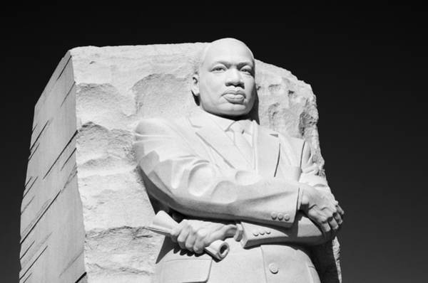 Wall Art - Photograph - Mlk Memorial - Black And White by Brendan Reals