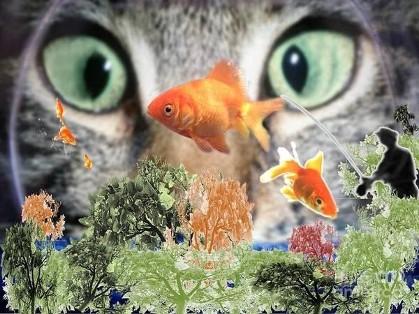 Fishing Pole Digital Art - Mmmm Snack Raw by Catherine Herbert