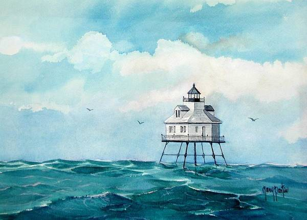 Painting - Mobile Middle Bay Light by Gary Partin