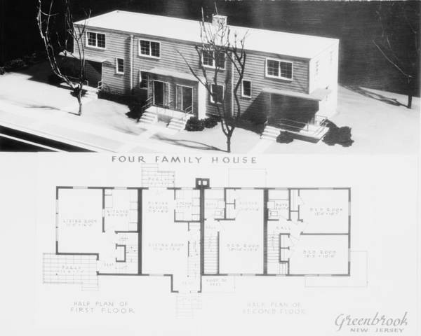Works Progress Administration Photograph - Model Of A Four-family House Of A New by Everett