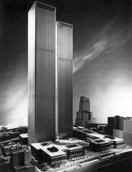 Wall Art - Photograph - Model Of World Trade Center by Underwood Archives