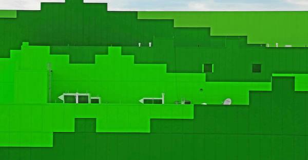 Wall Art - Photograph - Modern Architecture 22 - Green Texture by Steve Ohlsen