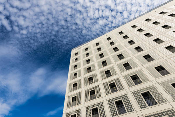 Photograph - Modern Architecture - Library Building And Blue Sky by Matthias Hauser