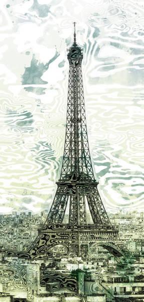 La Tour Eiffel Photograph - Modern-art Eiffel Tower 12 by Melanie Viola