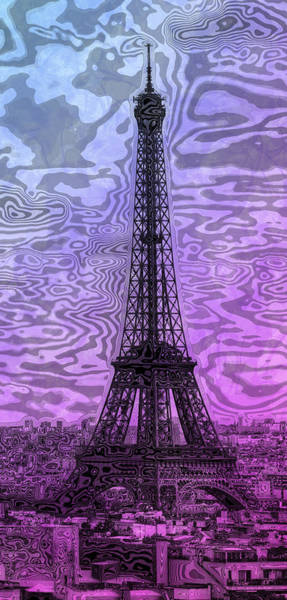 Contour Photograph - Modern-art Eiffel Tower 14 by Melanie Viola