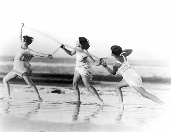 Grecian Photograph - Modern Dance On The Beach by Underwood Archives