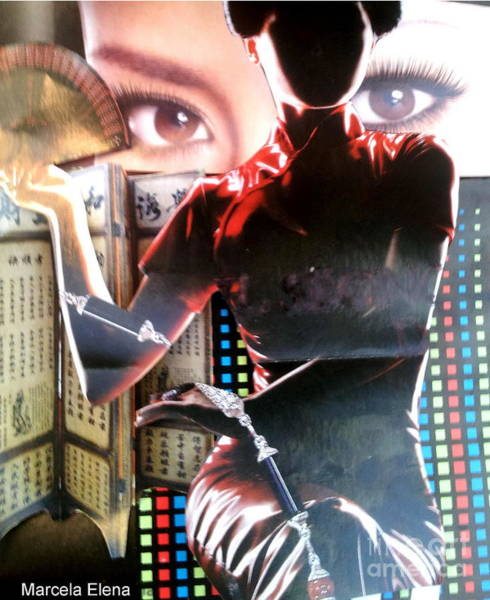 Geisha Mixed Media - Modern Geisha by Marcela Elena Moada