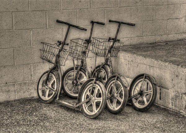 Amish Country Photograph - Modern Old Ways In Black And White by Greg and Chrystal Mimbs