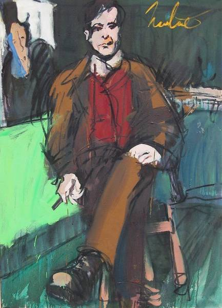 Painting - Modigliani by Les Leffingwell