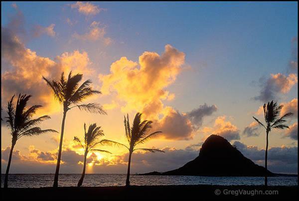 Mokolii Photograph - Mokoli'i Island Sunrise by Greg Vaughn