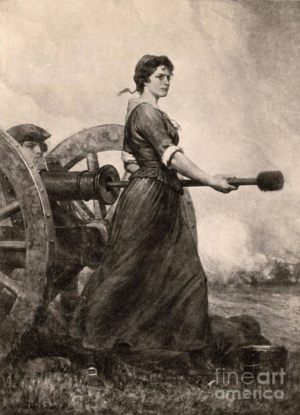 Notable Photograph - Molly Pitcher At The Battle by Photo Researchers