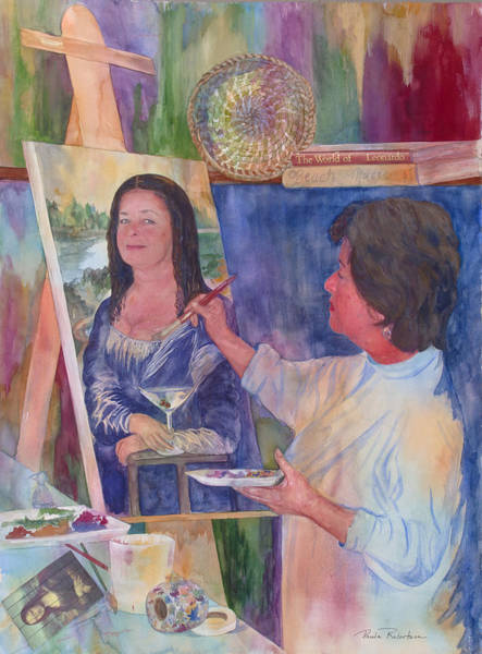 Painting - Mona Lisa by Paula Robertson