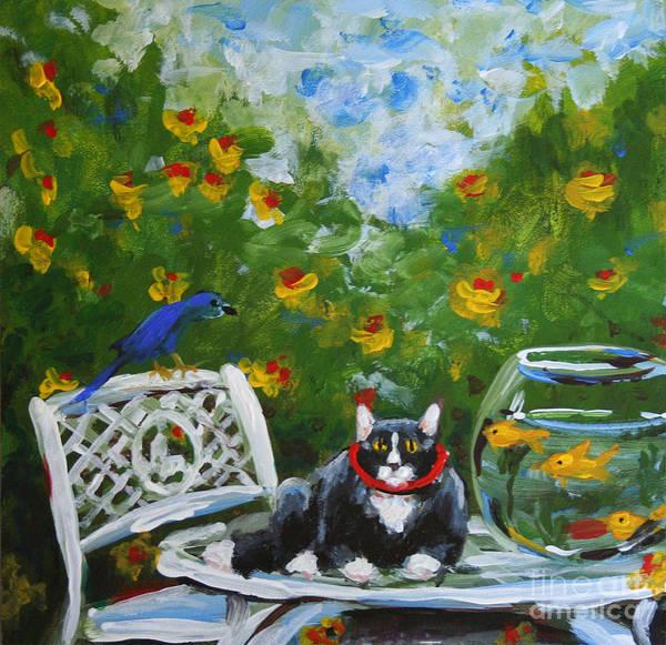 Monets Cat Art Print by Stella Violano