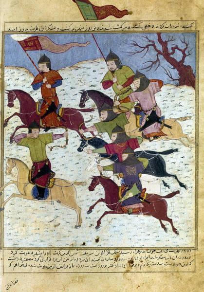 Wall Art - Photograph - Mongol Battle, C1400 by Granger